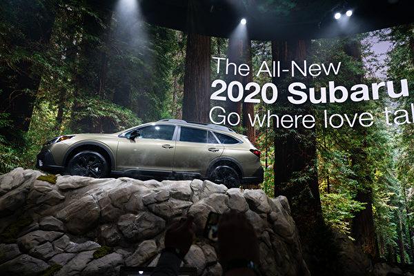 2019纽约国际车展,2020 SUBARU OUTBACK。(戴兵/大纪元)