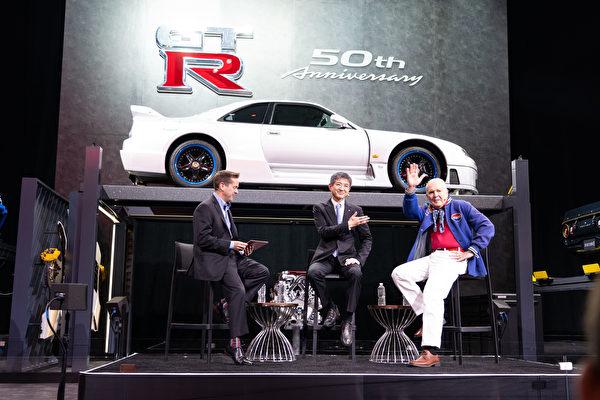 2019纽约国际车展,NISSAN GTR生产50周年纪念。(戴兵/大纪元)