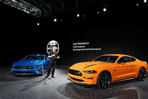 2019纽约国际车展,FORD公司纪念国家野马日,FORD野马。(戴兵/大纪元)