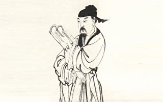 圖為宋濂畫像,據清上官周《晚笑堂畫傳》摹繪。(公有領域)
