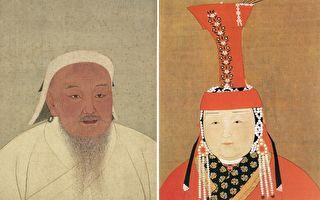 成吉思汗与孛儿帖画像。(公有领域/大纪元合成)