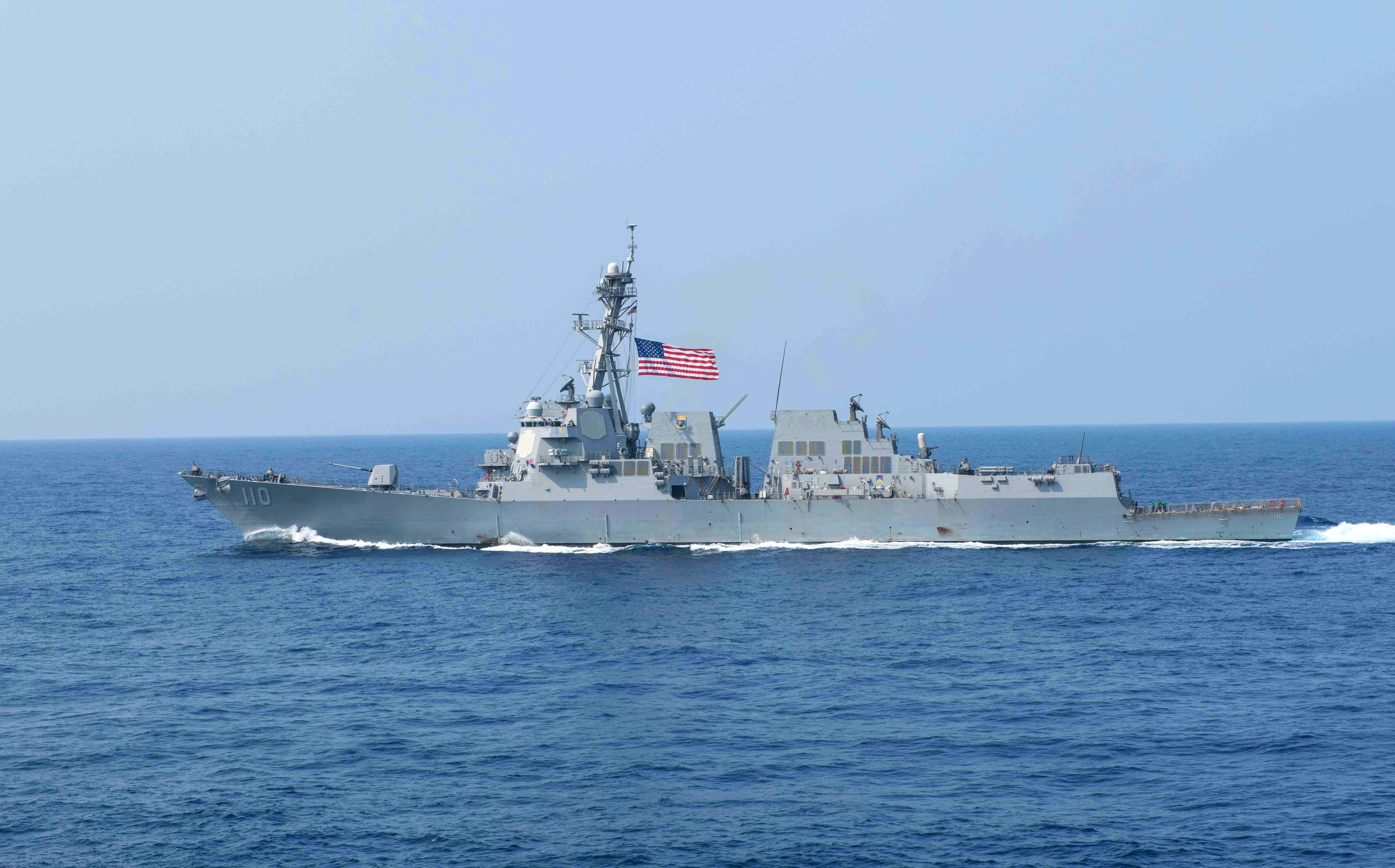 美國海軍兩艘柏克級神盾驅逐艦4月28日晚間由南往北穿越台灣海峽,其中一艘還開啟「自動識別系統」(AIS)。圖為勞倫斯號(William P. Lawrence)驅逐艦資料照。(MC2 Andrew P. HOLMES/Navy Media Content Operations(NMCO)/AFP)