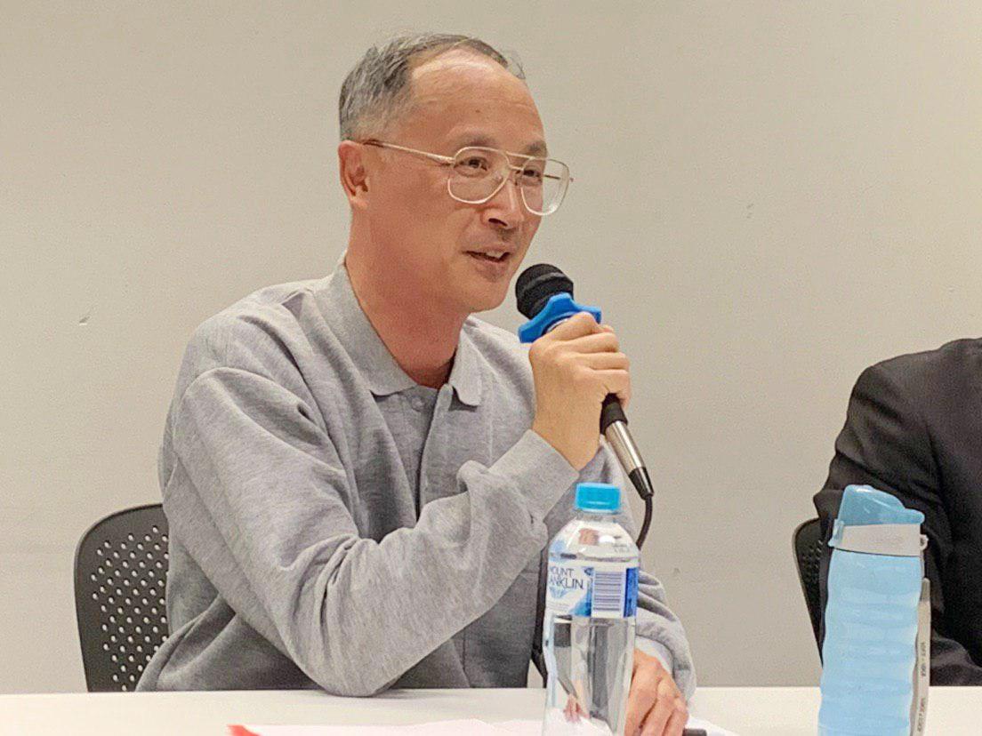 澳洲資深媒體人林松博士在研討會上發言。(駱亞/大紀元)