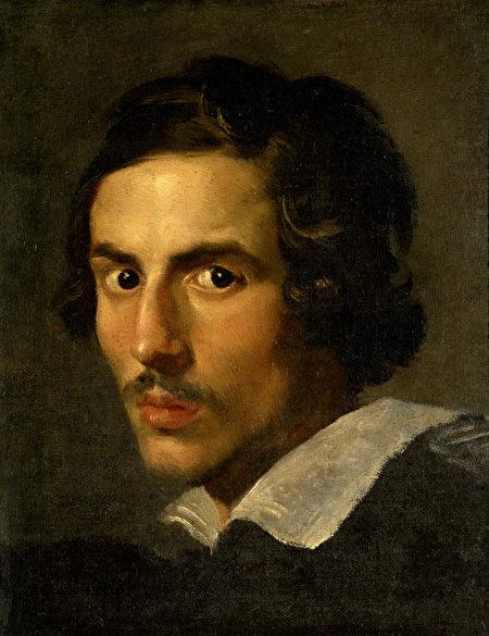 貝尼尼25歲時的自畫像。(公有領域)