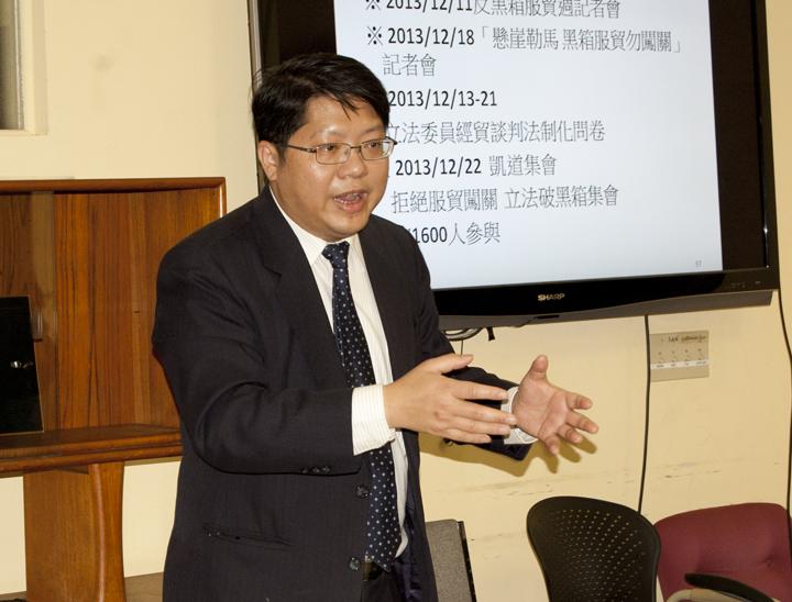 賴中強表示,從中共所定訂的《反分裂法》就可以清楚看到,中共的立場就是要統一台灣,武力是第二手段,第一手段是透過跟台灣政治談判。圖為賴中強資料照。 (楊婕提供)