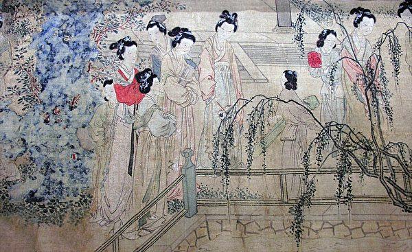 明 杜堇《仕女图卷》(局部),上海博物馆藏。(公有领域)