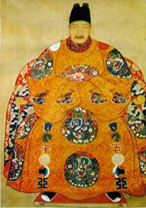 崇祯皇帝画像,故宫南薰殿旧藏。(公有领域)