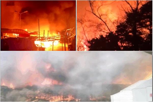 瀋陽棋盤山火災 村民房屋被毀 損失嚴重