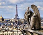"""巴黎圣母院人气最高的""""怪物界沉思者""""——""""思提志""""(Stryge)。(JeniFoto/shutterstock)"""