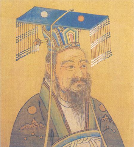 清人绘隋文帝杨坚画像。(公有领域)