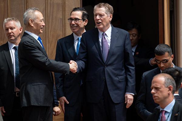 在周五的貿易談判中,美方向中方提出了底線。(SAUL LOEB / AFP)