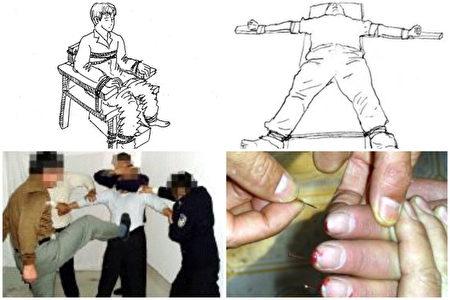 法輪功學員魏龍在范家台監獄曾遭受老虎凳、釘大板(「板鐐」)、十指插針及野蠻毆打等酷刑。(明慧網)