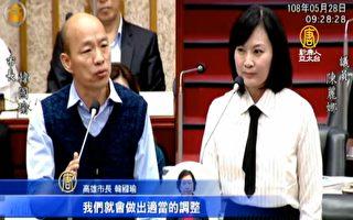 韩国瑜称疑似被监控 要调整一、二级主管