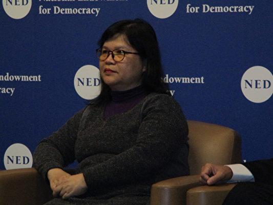 香港前記者協會主席麥燕庭(李辰/大紀元)