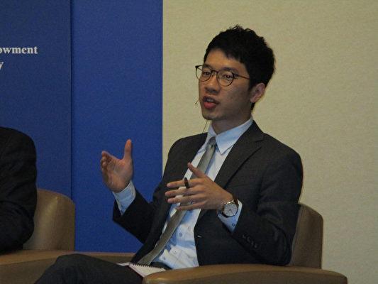 香港眾志創黨主席、前香港立法會議員羅冠聰。(李辰/大紀元)