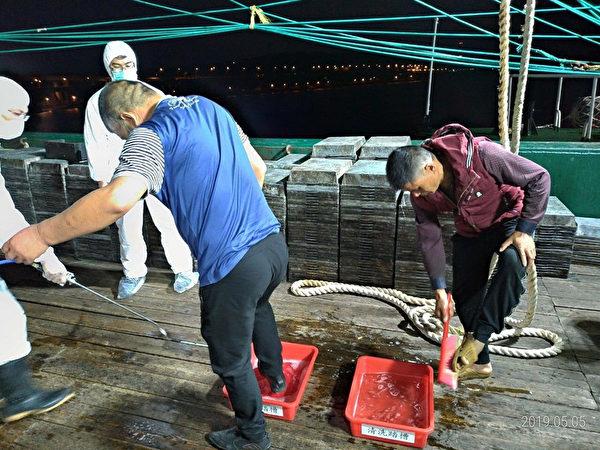 陆籍渔船越界 淡水海巡搜出31公斤猪肉