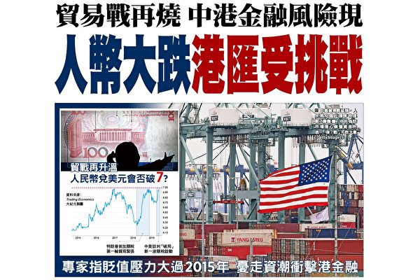 貿易戰下中港金融現風險 人幣大跌港匯走弱