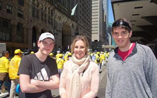 曼哈頓盛大遊行 路人震撼 纷纷讚歎
