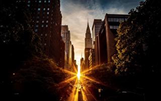 本週三到週六 可觀賞「曼哈頓懸日」奇景