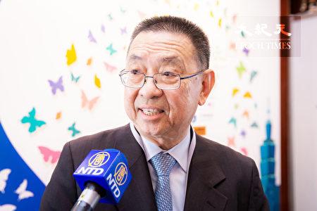 洛杉磯台灣會館董事長田詒鴻表示,第一波台商回來如果反應很好,將帶動更多台商回台。(陳柏州/大紀元)