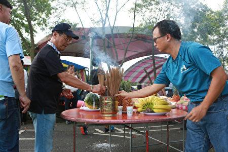 安农溪总体发展协会举行龙神祭典活动。