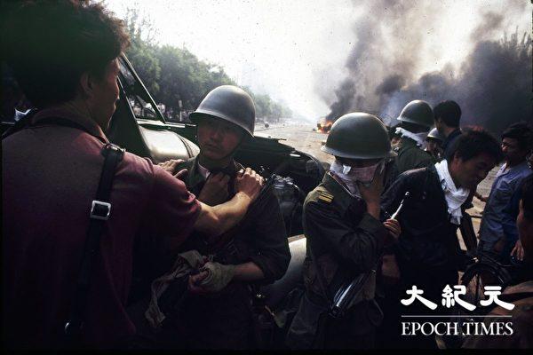1989年六四天安门事件现场。(Jian Liu提供)