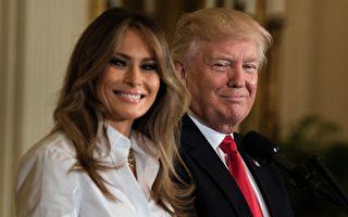 庆祝母亲节 川普在白宫向军人妈妈致敬