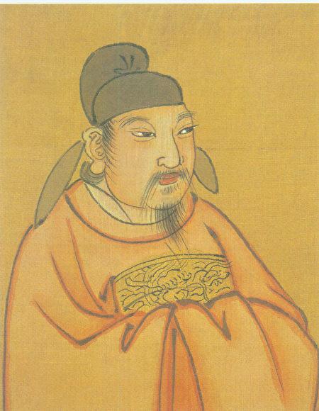 清代彩绘唐宪宗李纯像。(公有领域)