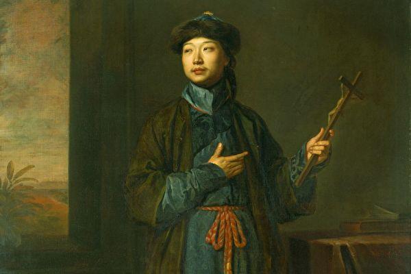 圖為早期到達歐洲的中國人之一——耶穌會士沈福宗像,美國哈佛大學美術館藏。(公有領域)