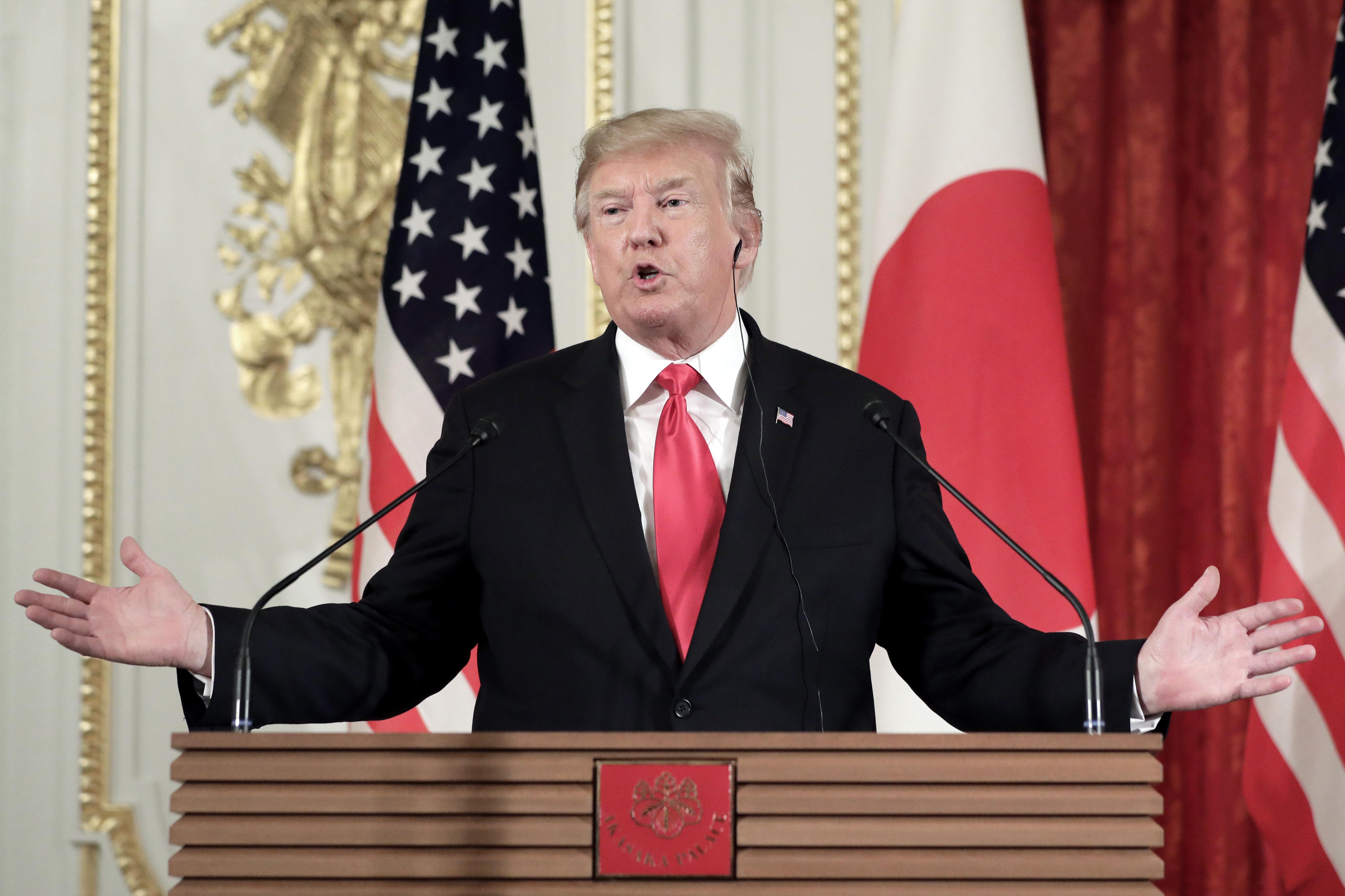 特朗普下令封鎖華為等企業,背後蘊藏四大戰略內涵。(Kiyoshi Ota – Pool/Getty Images)
