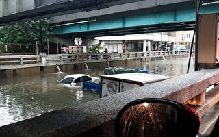 台中强降雨交通打结 一男子遭电击险丧命