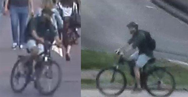 5月24日,監視錄像記錄的里昂爆炸案件嫌疑人圖像。(Handout / FRENCH POLICE / AFP)