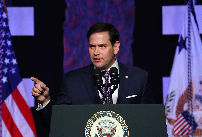 美國共和黨聯邦參議員魯比奧(Marco Rubio)4月30日在華府發表演說,全面抨擊中共的政策。圖為資料照。(Joe Raedle/Getty Images)