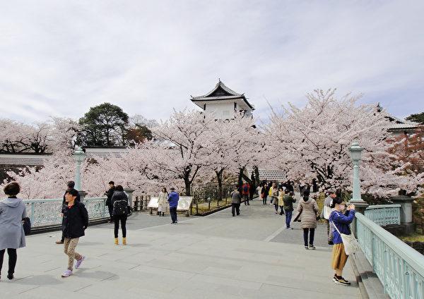 日本金澤城入口。(藍海/大紀元)