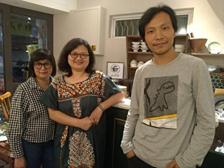 2018年10月28日在窩篆居播放《九月廿八日‧晴》,也邀請導演應亮(右)、陳慧老師(左)到現場分享。(鍾慧沁提供)