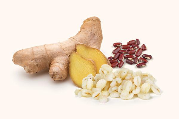 中医师推荐能有效去湿气的食物和中药,哪种食物除湿最快?(Shutterstock/大纪元制图)