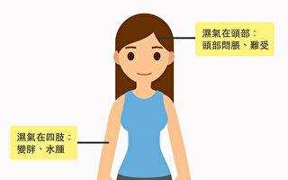 你濕氣重嗎?濕氣在身體不同部位 會有這些症狀