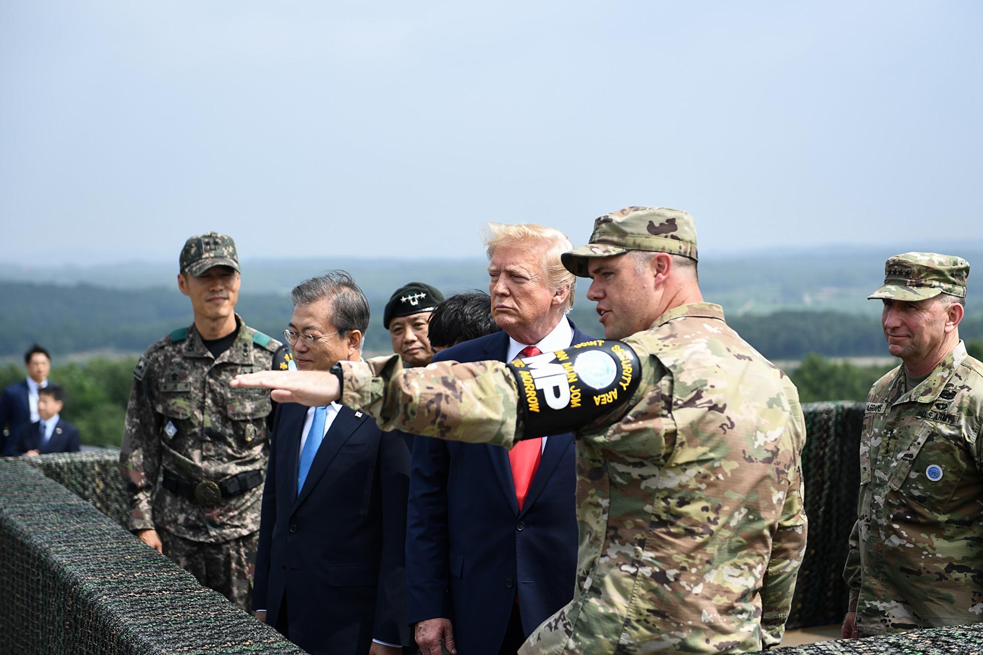 訪問非軍事區 特朗普:這個地方有了巨大改變
