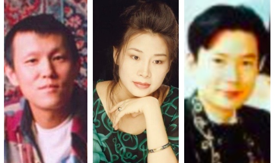 (從左至右)42歲北京樂手于宙,45歲廣東珠海知名畫家鄭艾欣,40歲吉他演奏家、歌手李京生因修煉法輪功被迫害致死。(大紀元合成圖)