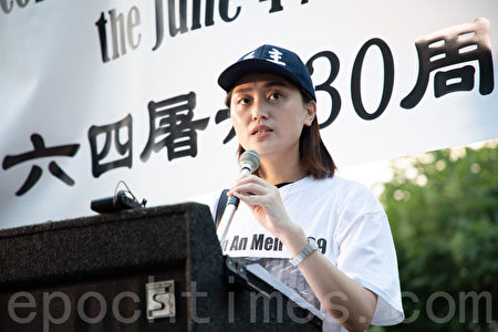 兩年前來美求學的李雪表示,國內敢於發聲的正義之士讓她感受到了義不容辭的責任。(林樂予/大紀元)