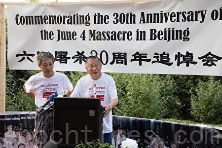 中國民主運動海外聯席會議主席魏京生。(林樂予/大紀元)