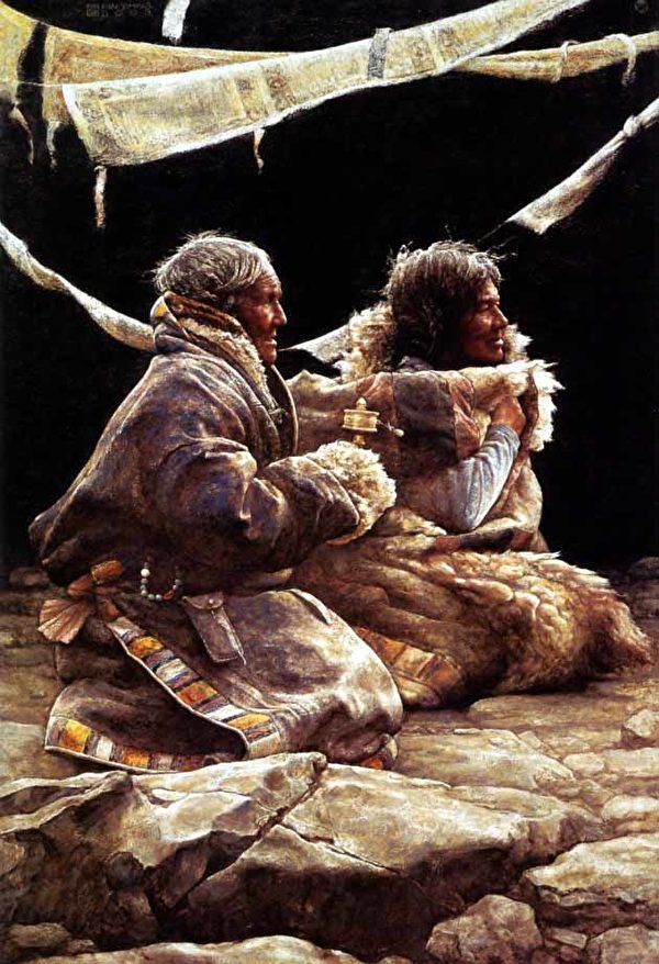 油畫家范一鳴作品圖片。(明慧網)