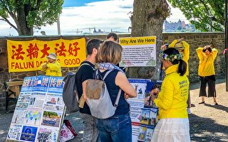 瑞典仲夏节庆典上 法轮功真相吸引中外游客