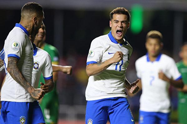 美洲盃:東道主巴西「開門紅」