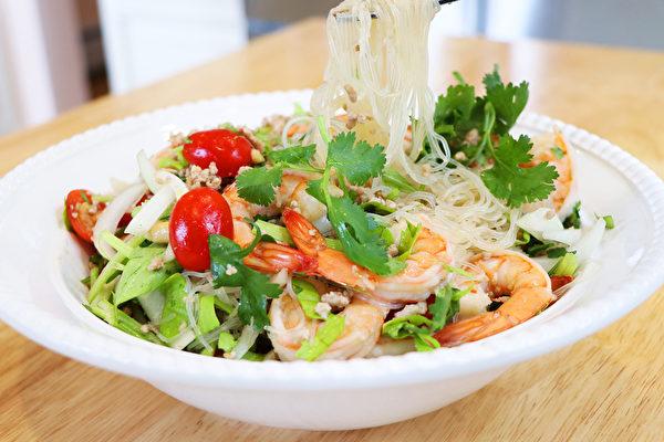 【美食天堂】泰式虾粉丝沙拉 |夏日必吃家常菜|