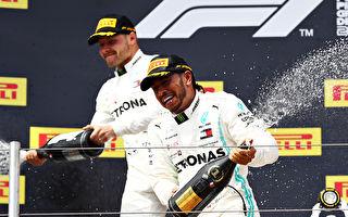 F1法國站:梅賽德斯車隊第6次包攬冠亞軍