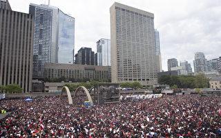 市長鼓勵雇主放行 多倫多百萬人遊行慶猛龍