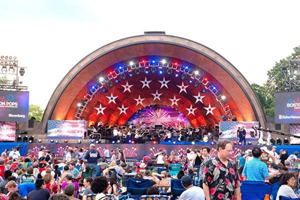 波士顿美国独立日庆典欢乐多