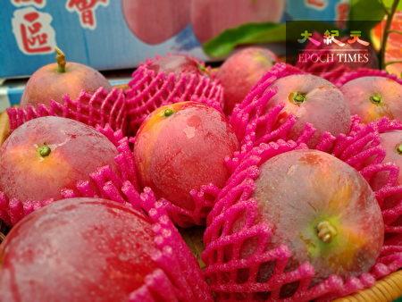 夏日红宝石-爱文芒果诱人的外观。