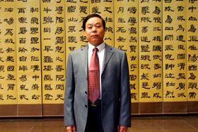 青島市著名書法家劉錫銅。(明慧網)